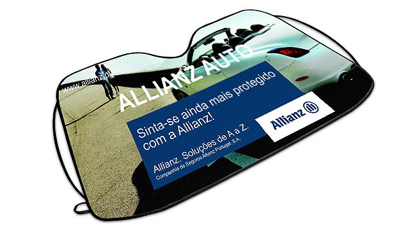 parasole auto publicita ice allianz