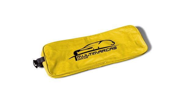 borsa in nylon kit di emergenza per auto giallo