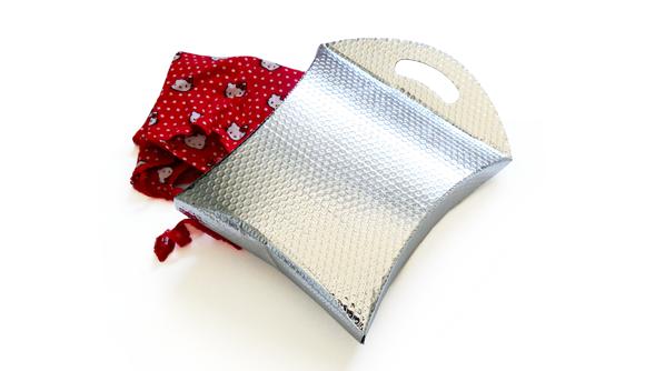 borsa con maniglia metallizzato 1